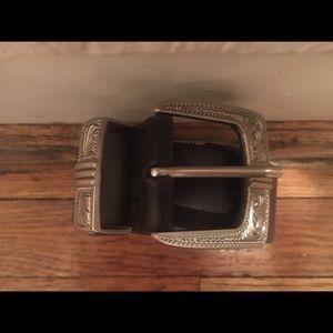 Silver Western Belt